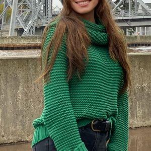 Emerald Green Chunky Knit Sweater